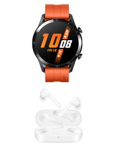 Huawei Watch GT2 color Naranja + Freebuds Lite Blancos