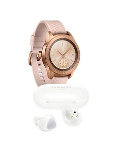 Samsung Galaxy Watch 42mm color Rosa + Galaxy Buds Plus Blancos