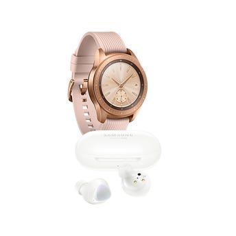 Samsung Galaxy Watch 42mm color Rosa + Galaxy Buds Plus Blancos