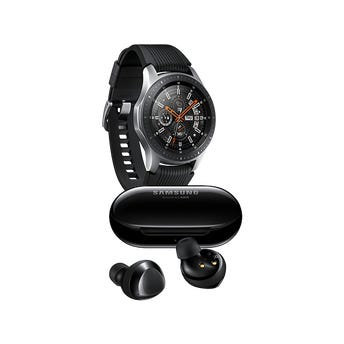 Samsung Galaxy Watch 46mm color Plata + Galaxy Buds Plus Negros