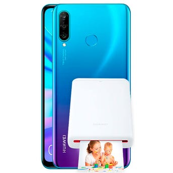 Huawei P30 Lite con Pocket Photo Printer