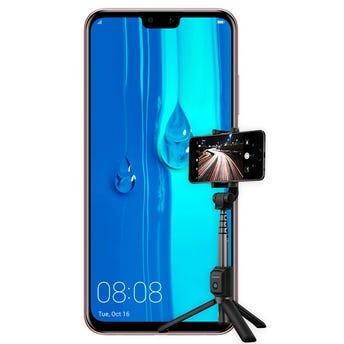 Huawei Y9 2019 con Tripod Selfie Stick