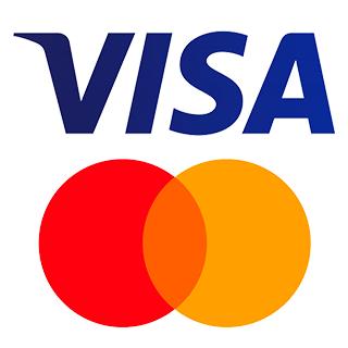 paga con visa o mastercard